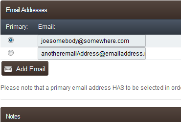 Client Email Addresses