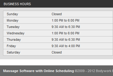 Online Scheduling Micro Site Business Hours