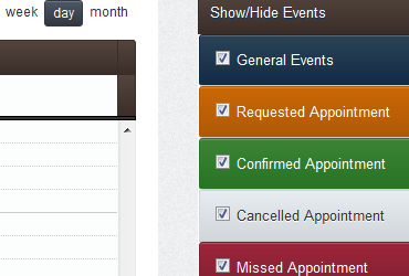Show or Hide appointments that you need to see.